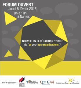 Invitation Forum Ouvert Nouvelles Générations d'actifs - Nantes - Les Orpailleuses