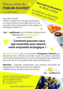 Invitation découverte du forum ouvert à La Rochelle - Les Orpailleuses