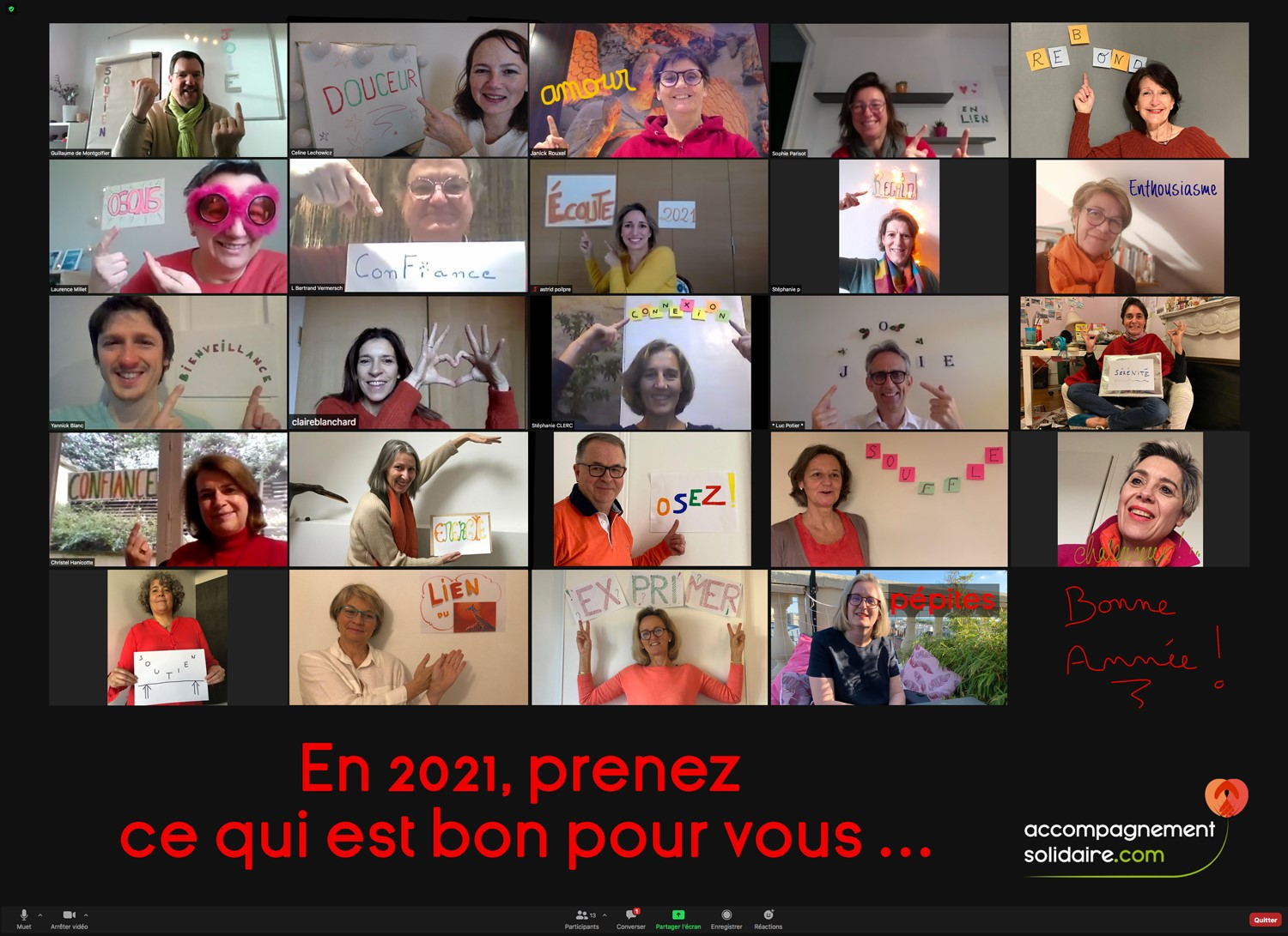 Voeux 2021 du Collectif Accompagnement Solidaire